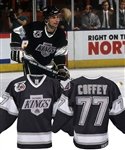 Paul Coffeys 1991-92 Los Angeles Kings Game-Worn Jersey with His Signed LOA - NHL 75th and Kings 25th Patches!