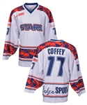 "Paul Coffeys Signed 2006 NHL Stars ""Russian Hockey 60th Anniversary"" Hockey Game Event-Worn Jersey #2 with His Signed LOA"