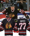Paul Coffeys 1998-99 Chicago Black Hawks Game-Worn Alternate Jersey with His Signed LOA
