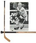 Paul Coffeys 1987-88 Pittsburgh Penguins Sher-Wood Game-Used Stick with His Signed LOA