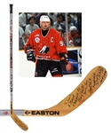 Wayne Gretzkys 1996 World Cup of Hockey Team Canada Signed Easton Silver Tip Game-Used Stick from Paul Coffeys Collection with His Signed LOA