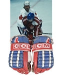 Paul Coffeys 1987 Canada Cup Team Canada CCM Game-Used Gloves with His Signed LOA - Photo-Matched!