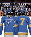 "Gordon ""Red"" Berensons 1967-68 St. Louis Blues Inaugural Season Game-Worn Stanley Cup Finals Home Jersey with His Signed LOA - Team Repairs!"