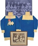 John Douglas Reads 1903-04 OHA Toronto Marlboros Game-Worn Wool Hockey Jersey with Great Provenance - Style of Jersey Used by The Marlboros Senior Team in Their 1904 Stanley Cup Challenge!