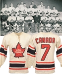 Tod Sloans 1962 World Championships Galt Terriers Team Canada Game-Worn Wool Jersey with Family LOA