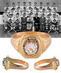 Tod Sloans 1948-49 Toronto Maple Leafs Stanley Cup Championship 10K Gold Ring with Family LOA