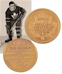Tod Sloans 1950-51 Toronto Maple Leafs Stanley Cup Champions Maple Leaf Gardens 10K Gold Lifetime Pass with Family LOA