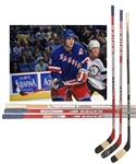Eric Lindros 2001-04 New York Rangers Bauer Game-Used Sticks (3) with His Signed LOA