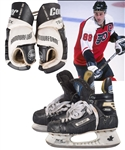 Eric Lindros Mid-1990s Philadelphia Flyers Cooper Game-Used Gloves and Bauer Game-Used Skates Plus Game-Worn Bauer Pant Shell and Cooper Pants with His Signed LOA