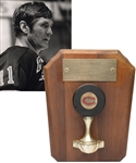 "Vic Hadfields New York Rangers March 25th 1972 ""100th Point of Season"" Milestone Puck with His Signed LOA (9"" x 11"")"