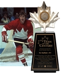 "Vic Hadfields Team Canada 1972 ""Team of the Century"" Trophy with His Signed LOA (13 ½"")"