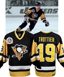 Bryan Trottiers 1990-91 Pittsburgh Penguins Game-Worn Stanley Cup Finals Jersey with Family LOA - Photo-Matched!