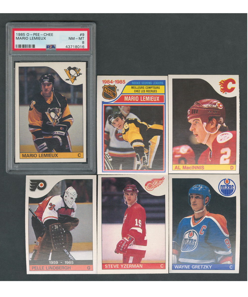 1985 opc hockey PSA graded 8-9 lot of 4 cards