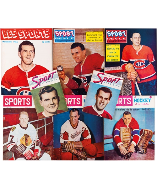 Huge 1950s/1970s Sport-Revue, Les Sports, Sports (Le hockey et ses vedettes) Blueline and Other Sport Publications/Books Collection of 330+