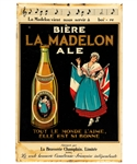 "Scarce 1930s Champlain Brewery ""La Madelon"" Beer Celluloid on Tin Advertising Sign (12"" x 18"")"
