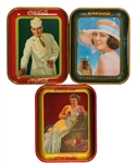 "Vintage 1921-27 Coca-Cola Serving Tray Collection of 5 Including 1921 ""Summer Girl"", 1927 ""Soda Jerk"" and 1937 Canadian ""Hostess Girl"""