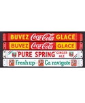 Vintage Advertising Collection with Coca-Cola, 7up and Pure Spring Door Push Bars (4), Planters Peanuts Counter Top Glass Jars with Lids (2), Dominion Cigars Sign and 1937 Sweet Caporal Calendar