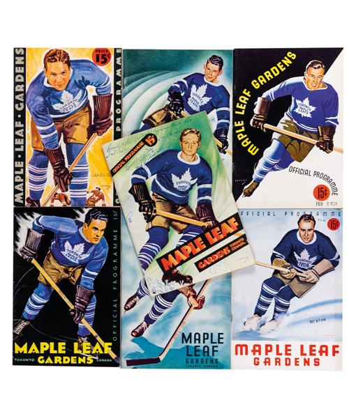 Maple Leaf Gardens / Toronto Maple Leafs 1936-39 Program Collection of 7