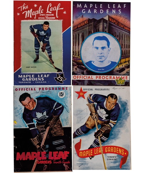 Maple Leaf Gardens / Toronto Maple Leafs 1940-48 Program Collection of 34 Including 1945 and 1948 Stanley Cup Finals Programs