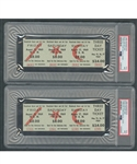 Historic 1969 Woodstock Music Festival Full 3-Day $24.00 Unused Tickets (2) - Both Graded PSA 9
