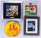 LeRoy Neiman Signed NFL and Horse Racing Piece Collection of 4 - All with PSA/DNA or JSA COAs/Basic Certs