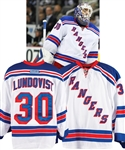Henrik Lundqvists 2013-14 New York Rangers Game-Worn Jersey with LOA - Photo-Matched!