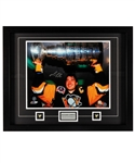 "Mario Lemieux Signed Pittsburgh Penguins Framed Stanley Cup Photo Display with Steiner COA (25"" x 31"")"
