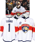 Roberto Luongos 2018-19 Florida Panthers Game-Worn Jersey with Team COA - 25th Patch! - Photo-Matched!