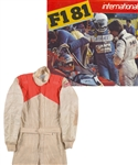 Gilles Villeneuves 1980 Ferrari Simpson Suit Worn in Practice/Testing with Detailed Letter of Provenance
