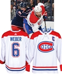 Shea Weber's 2018-19 Montreal Canadiens Game-Worn Captain's Jersey with Team LOA - Team Repairs - Photo-Matched!
