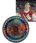 "Luc Robitailles 1985-86 Team Canada World Junior Championships Presentational Tray from His Personal Collection with His Signed LOA (12"")"