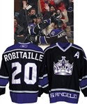 "Luc Robitailles 2005-06 Los Angeles Kings ""All-Time LA Kings Goal Leader"" Game-Worn Alternate Captains Jersey from His Personal Collection with His Signed LOA"