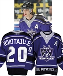 Luc Robitailles 2005-06 Los Angeles Kings Game-Worn Alternate Captains Third Jersey from His Personal Collection with His Signed LOA