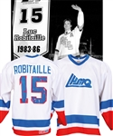 Luc Robitailles Mid-1980s QMJHL All-Star Game Game-Worn Jersey from His Personal Collection with His Signed LOA