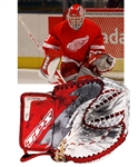 Dominik Hasek's 2003-04 Detroit Red Wings TPS Game-Used Glove - Photo-Matched!
