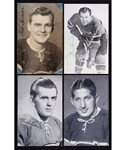 Montreal Canadiens 1940s Postcard Collection of 20 including Extremely Rare Bill Durnan Signed Example!