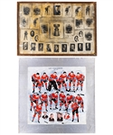"Montreal Canadiens 1932-33 Colourized Team Picture (16"" x 16"") – Same Image Used for 1932-33 Canadiens Puzzle, Plus 1920s/30s Canadiens Team Photos (4)"
