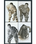 Montreal Canadiens Circa 1947-48 Real Photo Postcard Collection of 9 including HOFers Durnan, Blake, O'Connor, Reardon, Lach, Bouchard and the Rocket
