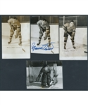 Montreal Canadiens Late-1940s Real Photo Postcard Collection of 6 Including Richard (2) Durnan, O'Connor, Reay and Chamberlain