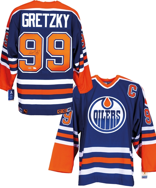 Wayne Gretzky Signed Edmonton Oilers Captains Away Jersey with UDA COA