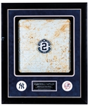 """Farewell Captain"" Derek Jeter Final Season Framed New York Yankees 2014 Game-Used Third Base Display with Steiner LOA (23 ½"" x 27 ½"")"