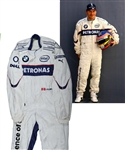 Jacques Villeneuves 2006 BMW Sauber F1 Team Signed Race-Worn Suit with His Signed LOA