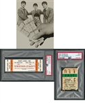 The Beatles Sept. 7th 1964 Loge Press Pass For Concert at Maple Leaf Gardens (Graded PSA 10 GEM MT) Plus Sept. 7th 1964 Concert Ticket Stub (Graded PSA Authentic)