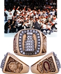 Jacques Laperrieres 1992-93 Montreal Canadiens Stanley Cup Championship 14K Gold and Diamond Ring with His Signed LOA