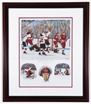 """Henderson Scores for Canada"" Paul Henderson Signed Limited-Edition Framed Print by Daniel Parry (28"" x 32"") Plus Vladislav Tretiak CSKA Moscow Signed Jersey - LOA"