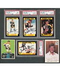 Bobby Orr Signed 1991-92 Score Hockey Card Collection of 6 (PSA/DNA Certified) Plus 3 Other Signed Cards