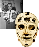 Early-1960s Pro-Style Fiberglass Goalie Mask Obtained From Molsons Sporting Goods Store - Attributed To Jacques Plante