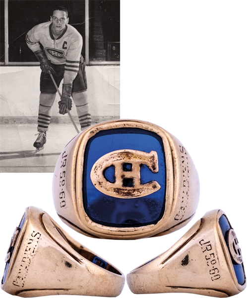 Jacques Laperrieres 1959-60 Junior Canadiens Gold Team Ring from His Personal Collection with LOA