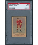 1951-52 Parkhurst Hockey Card #66 HOFer Gordie Howe Rookie - Graded PSA NM 7