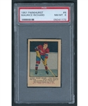 1951-52 Parkhurst Hockey Card #4 HOFer Maurice Richard Rookie - Graded PSA NM-MT 8